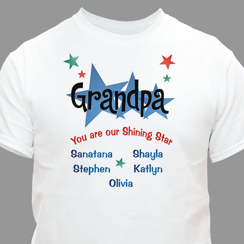 Shining Stars Personalized Father's Day T-Shirt