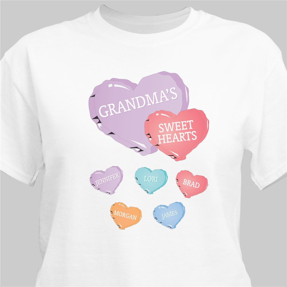 Candy Hearts Personalized T-Shirt | Grandma Shirts