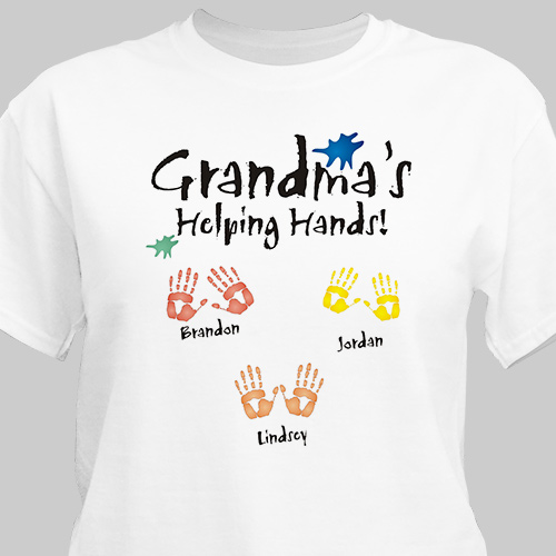 Helping Hands Personalized T-Shirt | Personalized Grandma Gifts