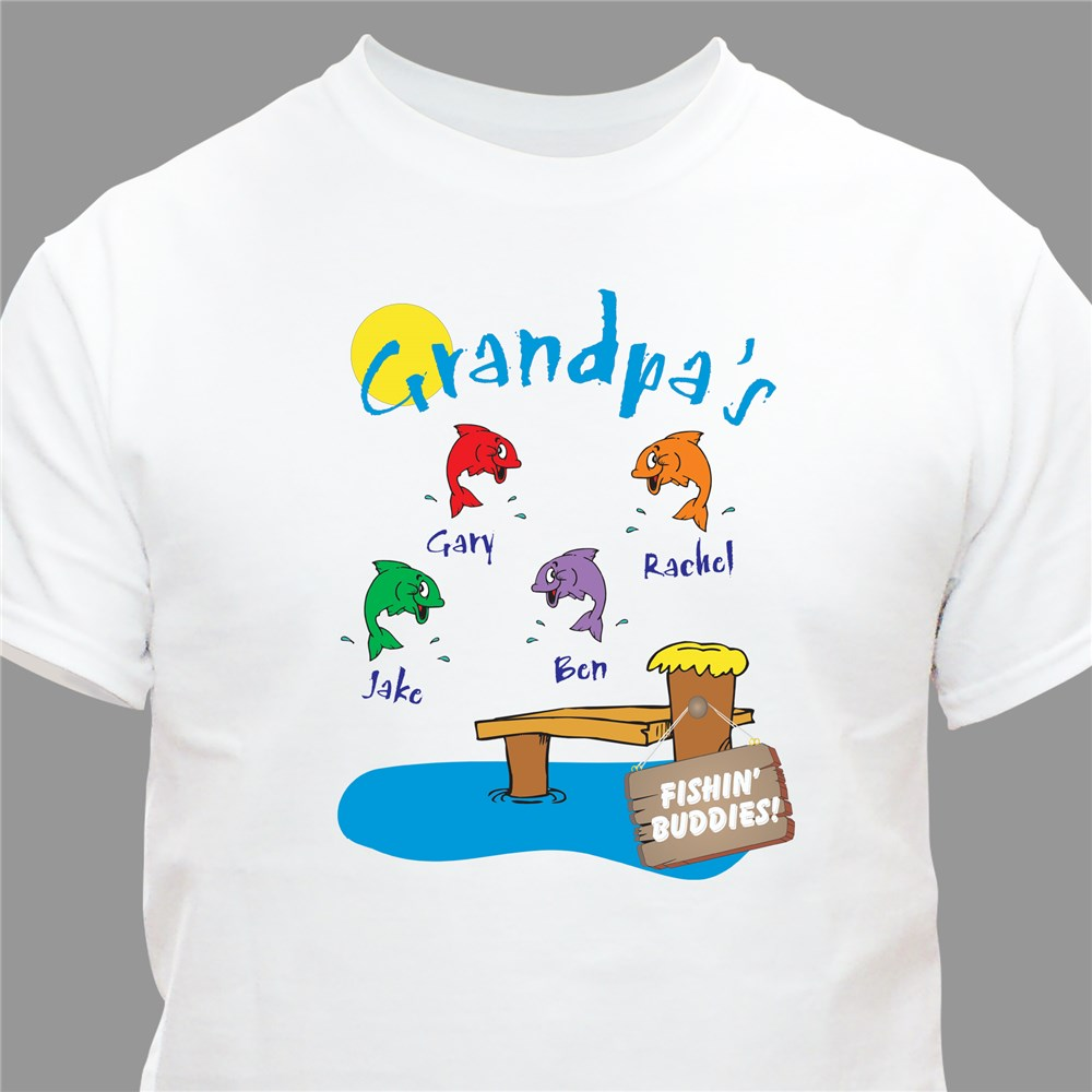 Fishing Buddies Personalized T-Shirt | Personalized Gifts For Grandpa