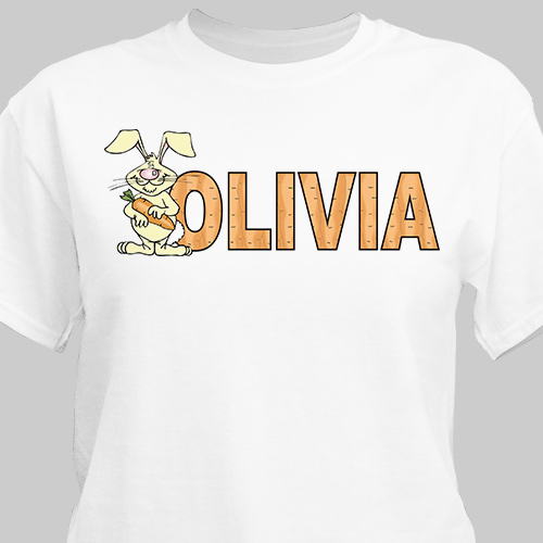 Carrot Name Personalized Easter T-Shirt | Personalized Easter Shirt
