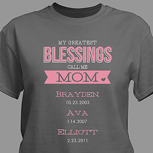 Personalized Greatest Blessings T-Shirt 310071X