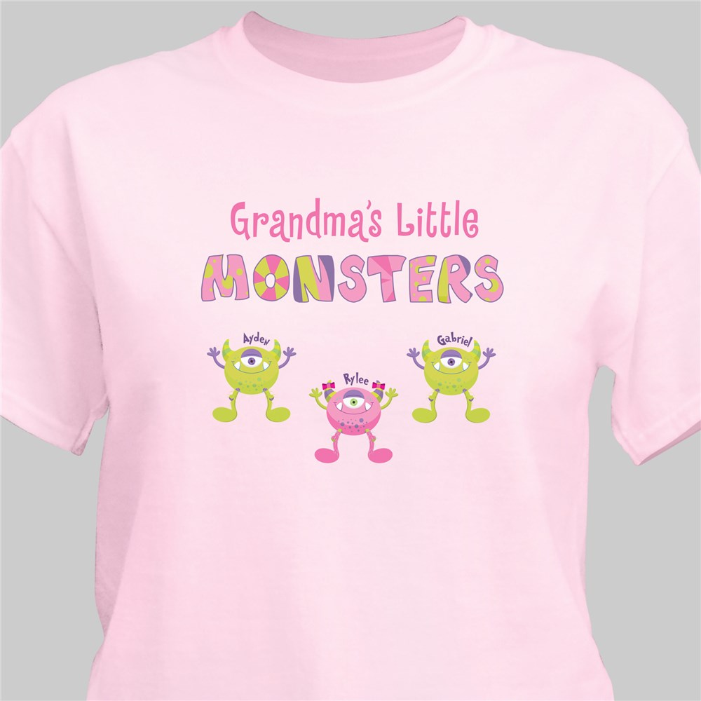 Personalized Grandmas Little Monsters T-shirt | Personalized Grandma Shirts