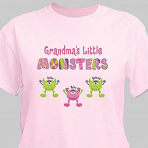 Personalized Grandmas Little Monsters T-shirt