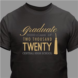 Personalized Graduate T-Shirt | Graduation T Shirts