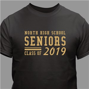 Personalized Seniors T-Shirt | Graduation T Shirts