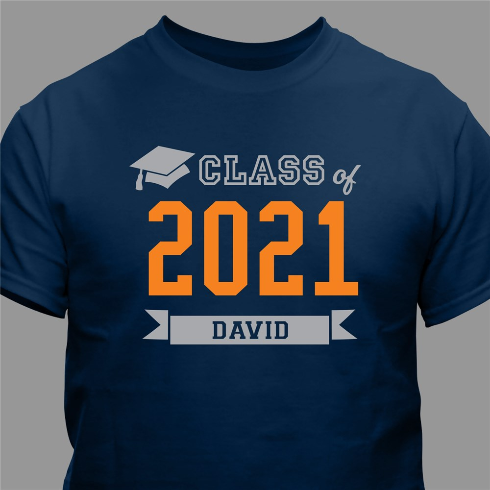 Personalized Class Of T-Shirt | Graduate Gifts