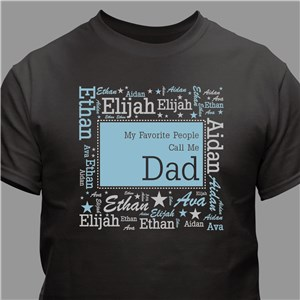 Favorite People Word-Art Shirt | Personalized Tshirt For Grandpa