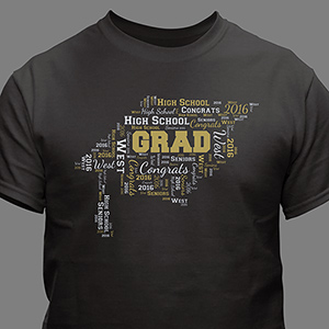 Personalized Graduation Word-Art Shirt