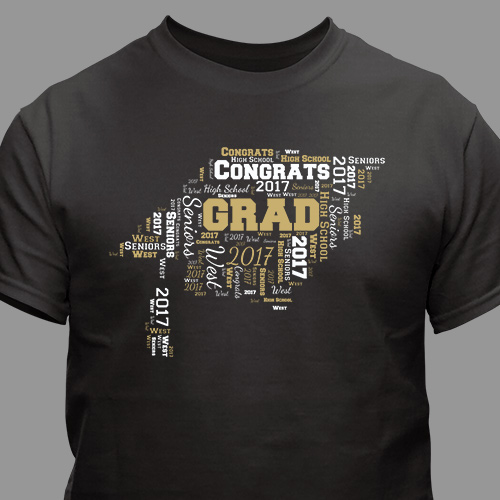 Personalized Graduation Word-Art Shirt | Graduate Gifts