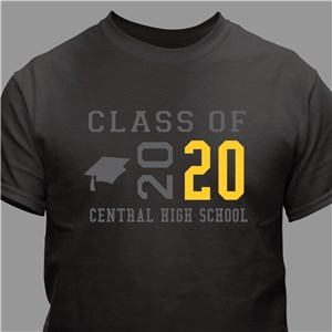 Personalized Class Of T-Shirt | Graduation Shirts