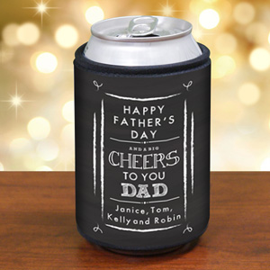 Personalized Cheers to You Dad Can Wrap