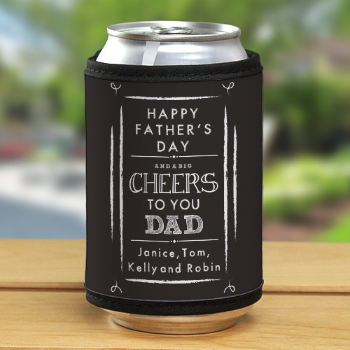 Personalized Cheers to You Dad Can Wrap | Fathers Day Presents