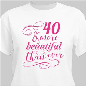 Personalized More Beautiful T-shirt | Personalized T-shirts