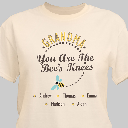 Personalized You Are The Bee's Knees T-Shirt | Personalized Grandma Shirts