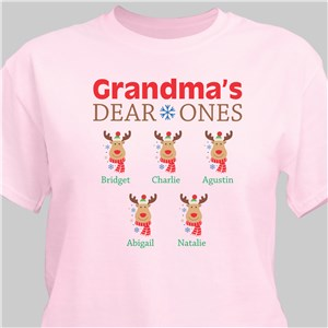 Personalized Deer Ones T-Shirt | Personalized Christmas T-Shirt