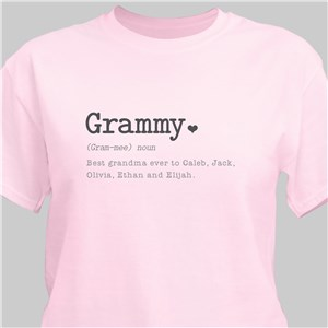 Personalized Definition of Her T-Shirt | Personalized Grandma Gifts