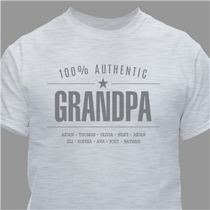 Personalized 100% Authentic T-Shirt for Him | Grandpa Gifts