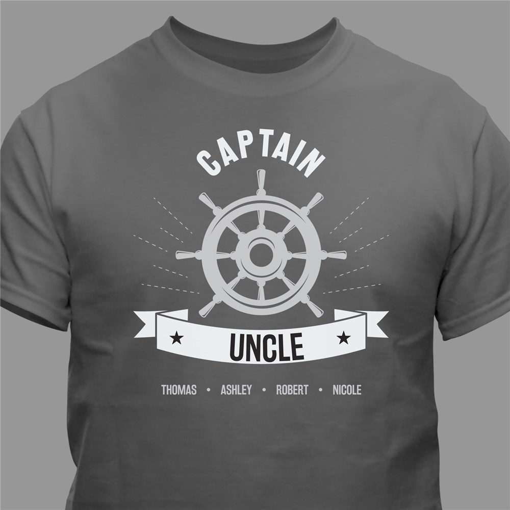 Personalized Captain Grandpa T-shirt | Gift for Grandpa