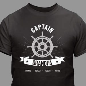 Personalized Captain Grandpa T-Shirt