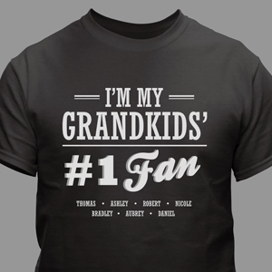 Personalized #1 Fan T-Shirt For Him | Grandpa Shirts