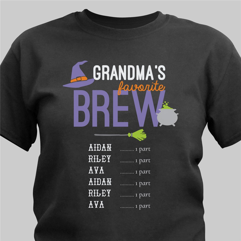 Personalized Grandma's Brew T-Shirt | Personalized Halloween Shirts