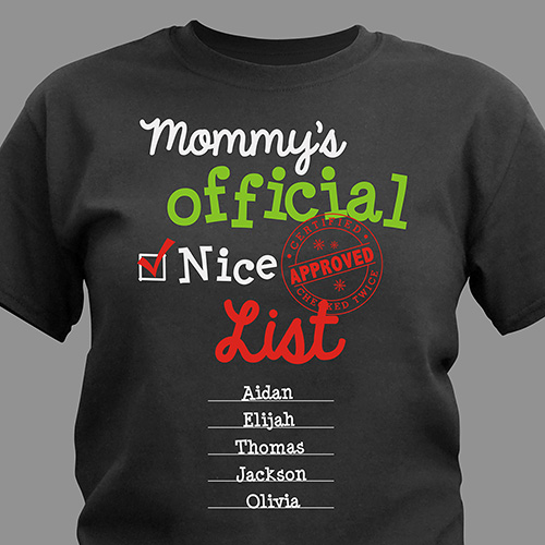 Personalized Official Nice List Shirt | Personalized Christmas Shirt