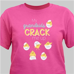 Personalized My Grandkids Crack Me Up T-Shirt | Personalized Grandma Shirts