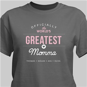 Personalized World's Greatest T-Shirt for Her | Mommy T Shirts | Personalized Gifts