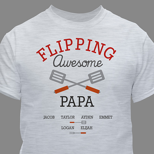 Personalized Flipping Awesome T-Shirt | Dad Shirts