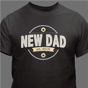Personalized New Dad T-Shirt | First Father's Day Gifts