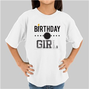Personalized Birthday Girl Youth T-Shirt | Kids Birthday Shirt