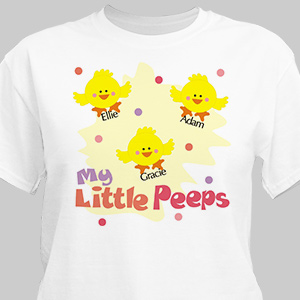 Little Peeps Personalized Easter T-Shirt