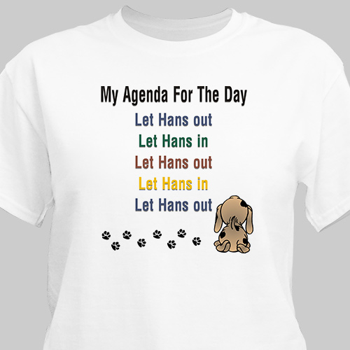 Agenda For The Day Personalized Pet T-Shirt | Personalized T-shirts