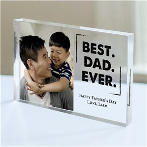 Personalized Best. Dad. Ever. Acrylic Block | Personalized Keepsake For Dad