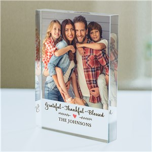 Personalized Grateful, Thankful, Blessed Photo Keepsake | Photo Keepsakes