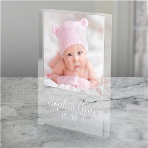 Personalized Photo Baby Keepsake | Personalized Baby Photo Gifts