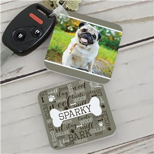 Personalized Fetch Woof Bark Photo Key Chain  | Personalized Photo Keychains