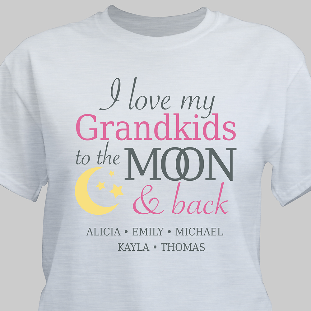Personalized To the Moon T-Shirt | Personalized Grandma Shirts