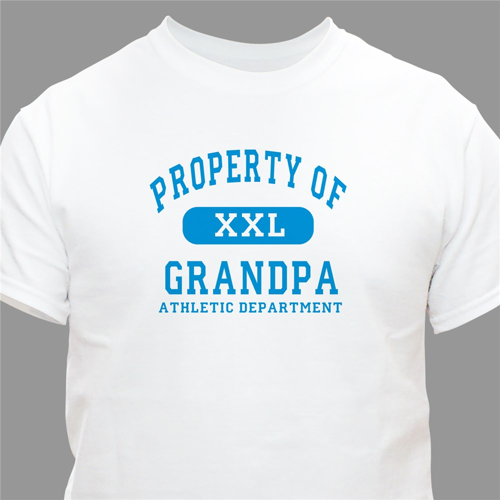 Property of Athletic Personalized T-shirt | Personalized T-shirts