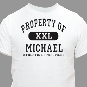 Property of Athletic Personalized T-shirt