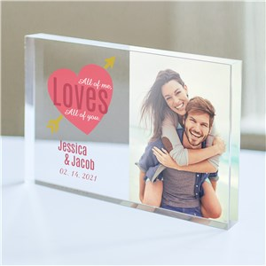 Personalized All Of Me Loves All Of You Photo Acrylic Keepsake | Personalized Valentine's Gifts For Her