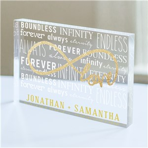 Personalized Infinity Acrylic Keepsake | Personalized Valentine's Day Gifts