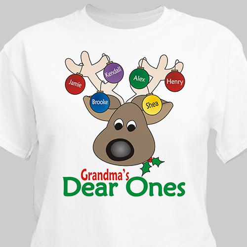 Deer Ones Christmas Personalized T-Shirt | Personalized Christmas T-Shirt