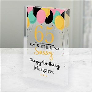 Personalized Still Sassy Acrylic Keepsake | Birthday Keepsakes