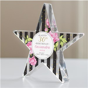 Personalized Stripes Birthday Star | Personalized Birthday Gifts
