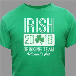 Personalized Irish Drinking Team T-Shirt | St. Patrick's Day Shirts