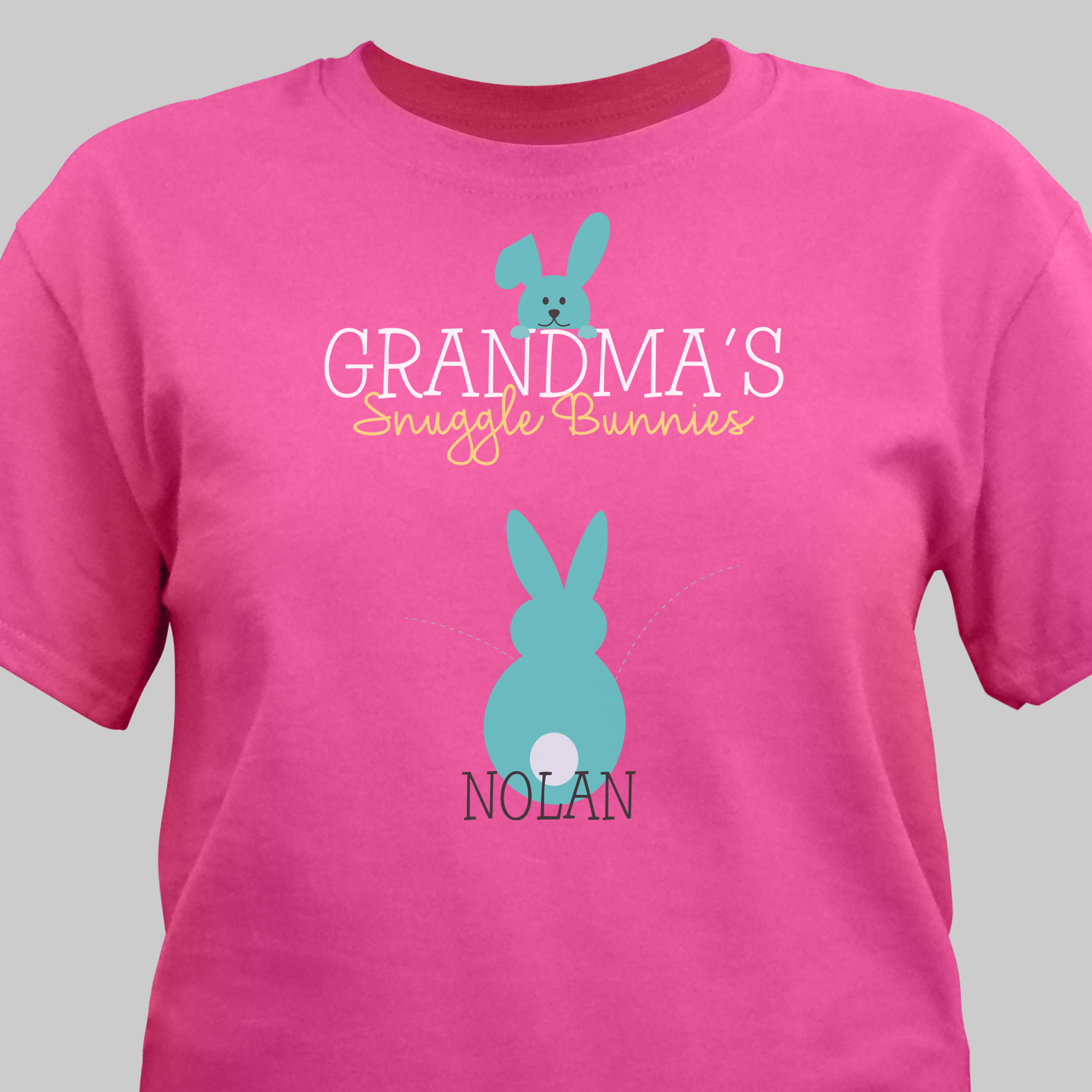 Personalized Snuggle Bunnies T-Shirt | Easter Shirt For Grandma