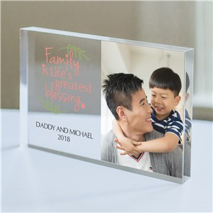 Personalized Family Is The Greatest Blessing Acrylic Keepsake | Photo Gifts