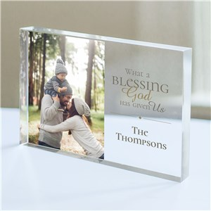 Personalized What a Blessing Has Given Us Acrylic Keepsake | Photo Gifts